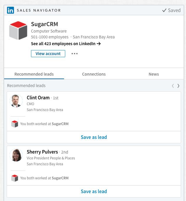 Sugar y Linkedin Sales Navigator