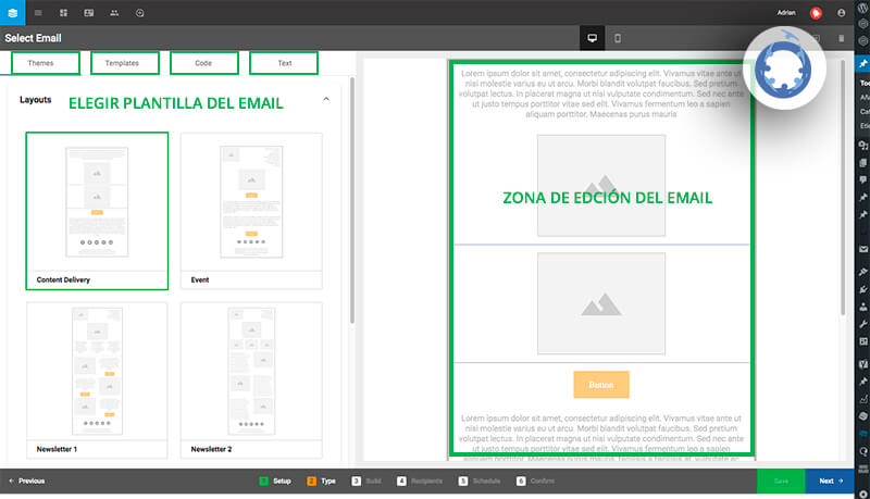 cómo crear una campaña de email marketing con Sugar Market