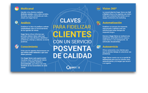 Infografía Claves para fidelizar clientes